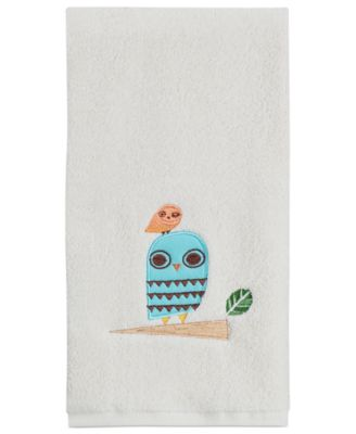 "Creative Bath Towels, Give a Hoot 16"" x 28"" Hand Towel"