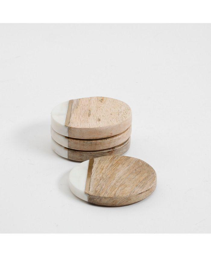 Laurie Gates - Brass Stripe Coaster Set