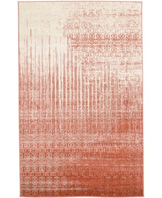 Lyon Lyo2 Red 5' x 8' Area Rug