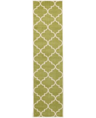 "Arbor Arb3 Green 2' 7"" x 10' Runner Area Rug"