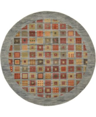 Ojas Oja6 Light Blue 8' x 8' Round Area Rug