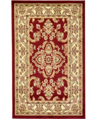 "Passage Psg5 Red 3' 3"" x 5' 3"" Area Rug"