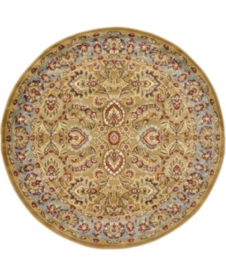 Passage Psg9 Dark Yellow 6' x 6' Round Area Rug