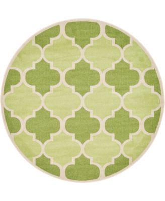 Arbor Arb7 Green 8' x 8' Round Area Rug