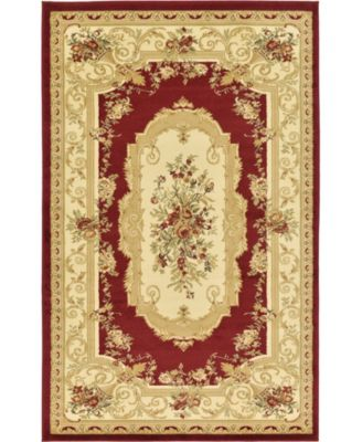 Belvoir Blv3 Red 5' x 8' Area Rug