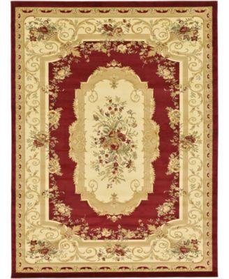 Belvoir Blv3 Red 9' x 12' Area Rug