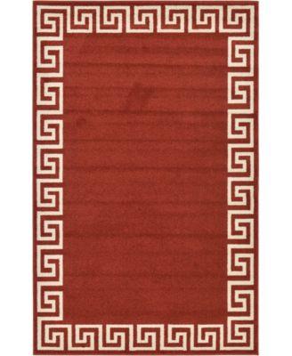 Anzu Anz2 Burgundy 5' x 8' Area Rug