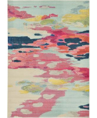 Newwolf New4 Pink 7' x 10' Area Rug