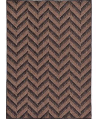 Pashio Pas6 Brown 7' x 10' Area Rug