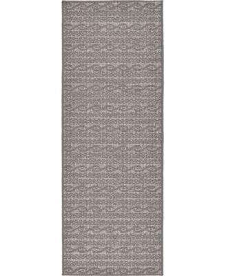 "Pashio Pas6 Gray 2' 2"" x 6' Runner Area Rug"