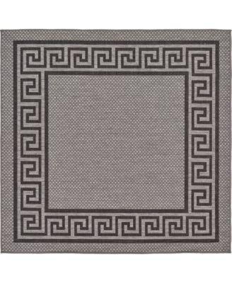 Pashio Pas6 Gray 6' x 6' Square Area Rug