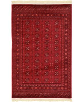 Vivaan Viv1 Red 4' x 6' Area Rug