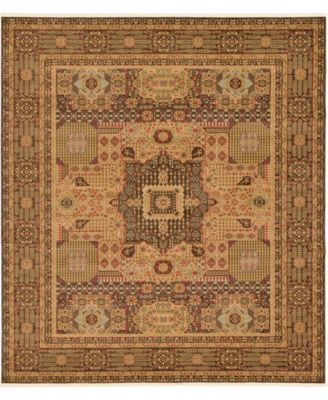 """Wilder Wld1 Brown 10' x 11' 4"""" Square Area Rug"""