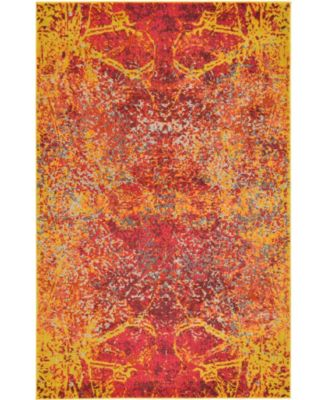 Newwolf New3 Red 5' x 8' Area Rug