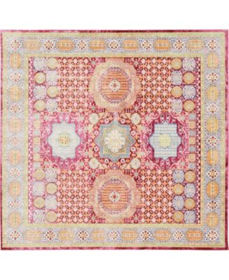 Malin Mal1 Red 8' x 8' Square Area Rug