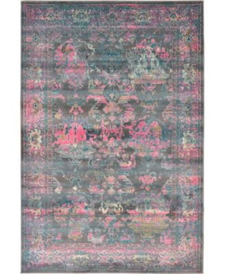 Aroa Aro1 Gray 6' x 9' Area Rug