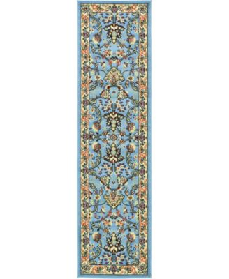 "Arnav Arn1 Light Blue 2' 2"" x 8' 2"" Runner Area Rug"