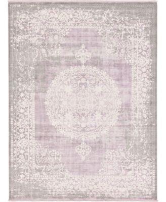 Norston Nor4 Purple 10' x 13' Area Rug