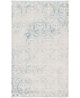 Norston Nor5 Light Blue 5' x 8' Area Rug