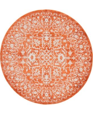 Norston Nor1 Terracotta 6' x 6' Round Area Rug
