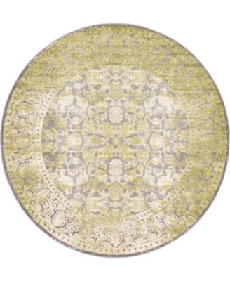 Norston Nor3 Light Green 8' x 8' Round Area Rug