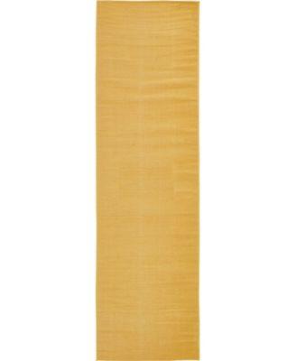 "Axbridge Axb3 Gold 2' 9"" x 9' 10"" Runner Area Rug"