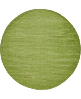 Axbridge Axb3 Green 5' x 5' Round Area Rug