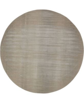 Axbridge Axb3 Gray 8' x 8' Round Area Rug