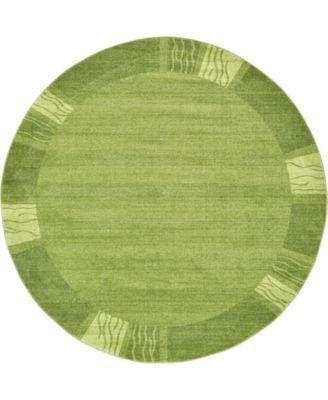 Lyon Lyo1 Green 8' x 8' Round Area Rug