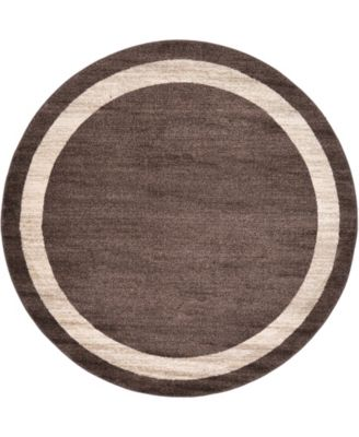 Lyon Lyo5 Brown 6' x 6' Round Area Rug