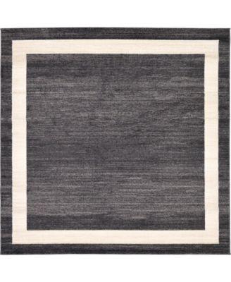 Lyon Lyo5 Black 8' x 8' Square Area Rug