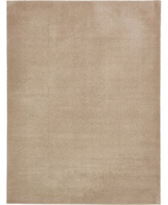 Salon Solid Shag Sss1 Taupe 9' x 12' Area Rug