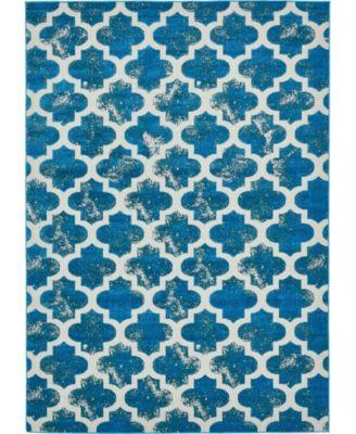 Pashio Pas2 Turquoise 7' x 10' Area Rug
