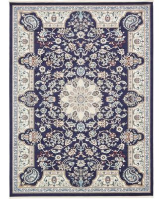 Zara Zar5 Navy Blue 10' x 13' Area Rug