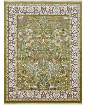 Zara Zar7 Green 8' x 10' Area Rug