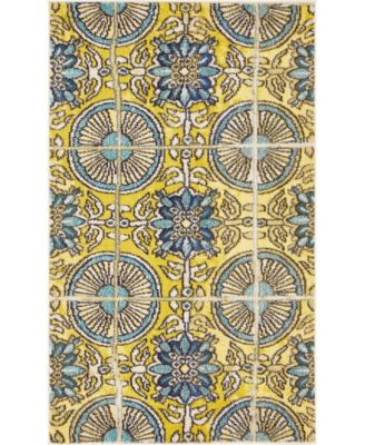 "Newwolf New5 Gold 3' 3"" x 5' 3"" Area Rug"