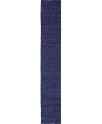 "Uno Uno1 Navy Blue 2' 2"" x 13' Runner Area Rug"