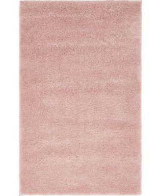 """Uno Uno1 Pink 3' 3"""" x 5' 3"""" Area Rug"""