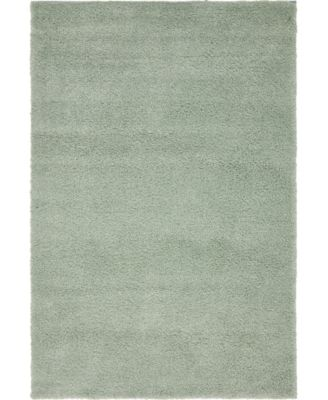 "Uno Uno1 Light Blue 5' x 7' 7"" Area Rug"
