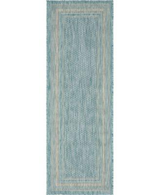 Pashio Pas5 Aquamarine 2' x 6' Runner Area Rug
