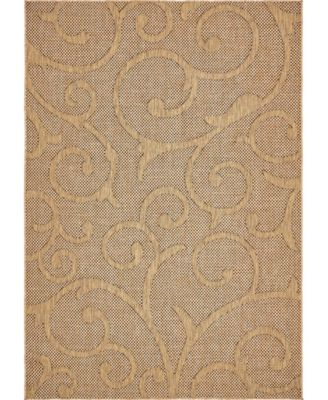 Pashio Pas7 Light Brown 6' x 9' Area Rug