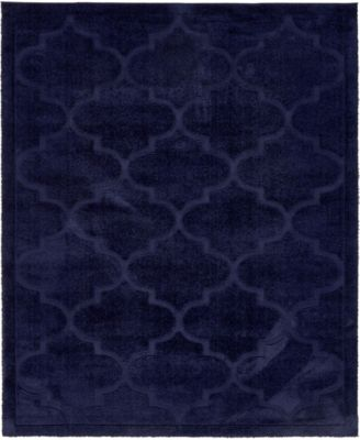 Filigree Shag Fil2 Navy Blue 8' x 10' Area Rug