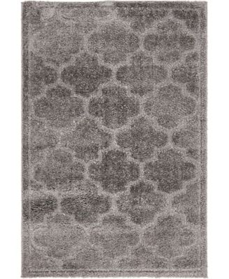 Filigree Shag Fil2 Dark Gray 4' x 6' Area Rug