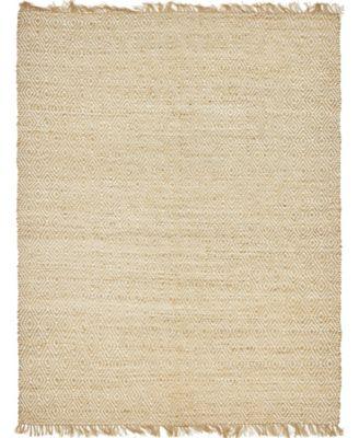 Braided Tones Brt3 Natural/White 8' x 10' Area Rug
