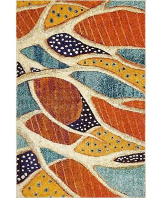 Ikbal Ikb5 Rust Red 4' x 6' Area Rug