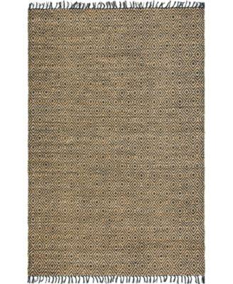 Braided Tones Brt3 Natural/Black 6' x 9' Area Rug