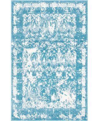 Mishti Mis3 Blue 4' x 6' Area Rug