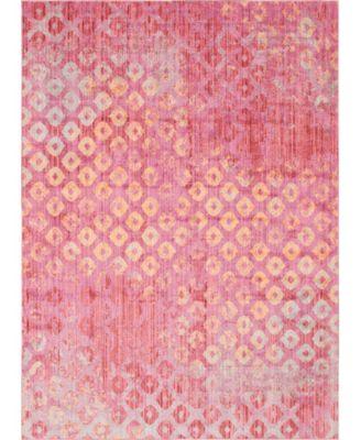Prizem Shag Prz2 Pink 8' x 11' Area Rug