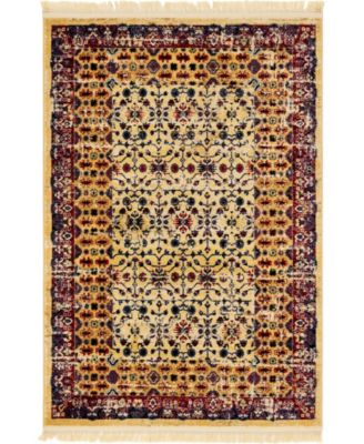 Borough Bor2 Beige 4' x 6' Area Rug