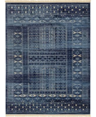 Borough Bor4 Blue 9' x 12' Area Rug